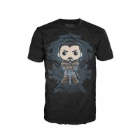 Camiseta Pop Game of Thrones Jon Snow Crast Funko Original